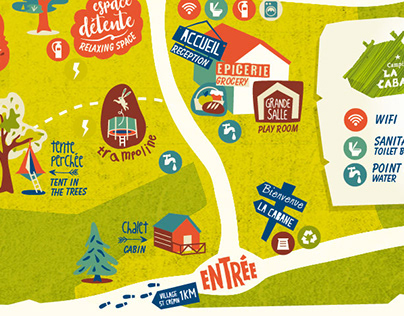 Plan du camping La Cabane à St Crépin
