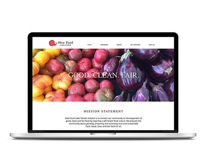 Slow Food Lake Tahoe Graphic & Web Design
