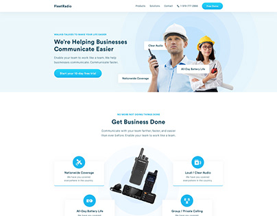 Website Design for Walkie Talkie Shop