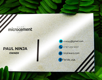 Business Card of Microcement