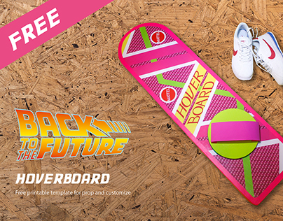 BTTF Hoverboard Homemade | FREE printable template