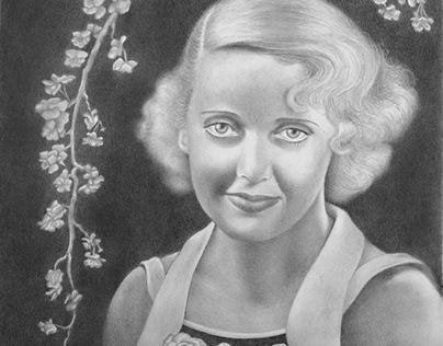 Bette Davis portrait drawing