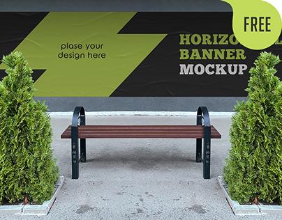 Free Horizontal Banner Mockup