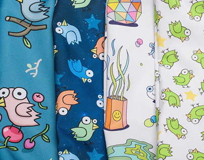 A series of prints for bags Greenbird.ru