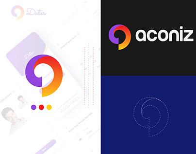 aconiz,modern a logo