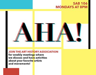 Art History Association Flyers