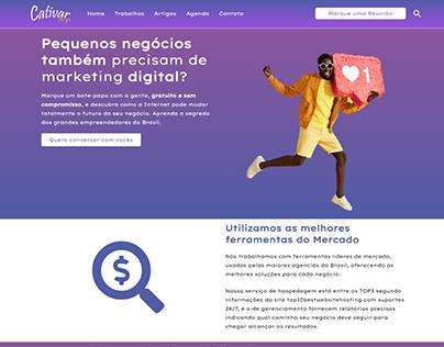 Site da Cativar Design