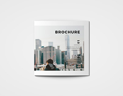Square Cool Modern Style Trifold