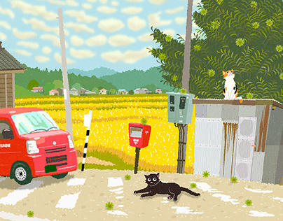 TABINEKO-Chestnut tree and Postal car