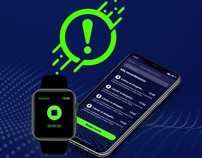 UX/UI design - Dot Minder app