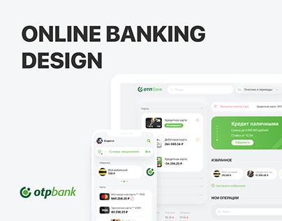 otp online bank UX/UI design