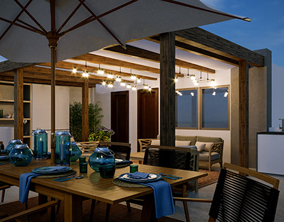 Small Roof top penthouse design, Villa at Madinaty.