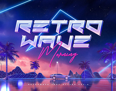 80s Retro Text Effects Vol.2