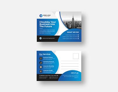 Corporate Modern Postcard or eddm Postcard design vol-4