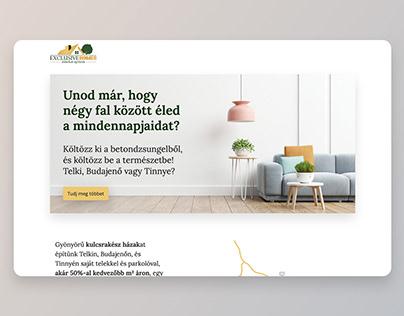 Exclusive Homes – website build