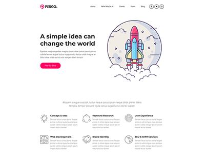 Startup Landing Pages WordPress Website