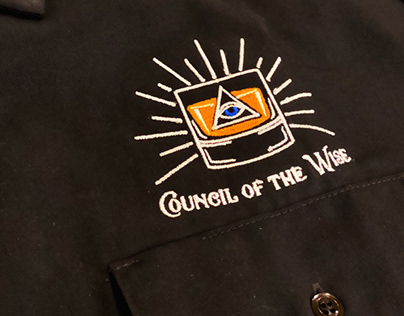 """""""Council of the Wise"""" embroidered logo"""