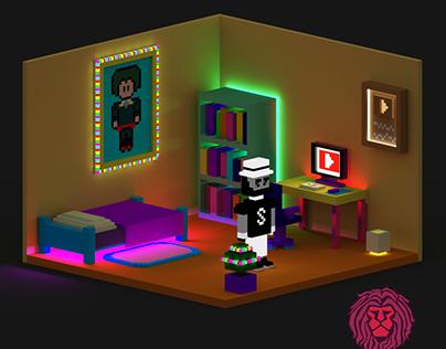Gamer Room. Applicate - Voxel Art (DV)