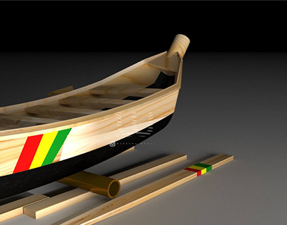 African fishing boat