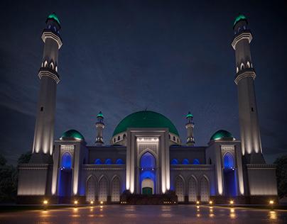 Концепция архитектурного освещения мечети