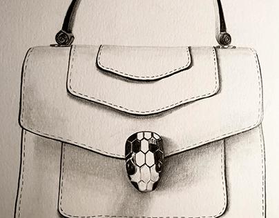 Handbag Sketches and Renders