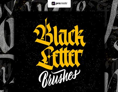 Blackletter brush Pack for Procreate