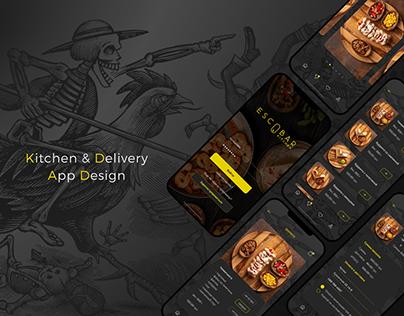 Escobar - UI app design for mexican food delivery