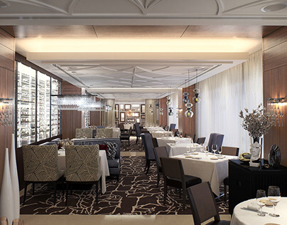 """3d visualization of the restaurant """"Bystro"""""""