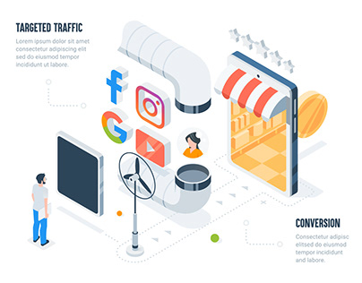 How targeted traffic works web animation