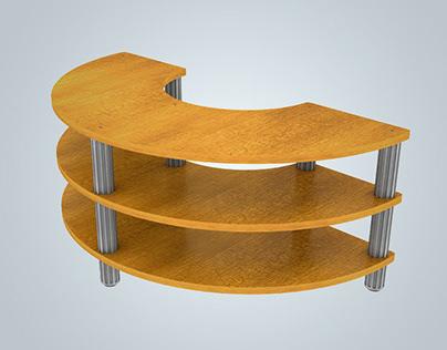 3D Furniture Rendering Model of Multifunctional Table