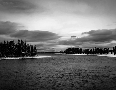 Yellowstone in Black and White