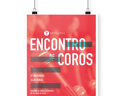 Encontro de Coros · Poster