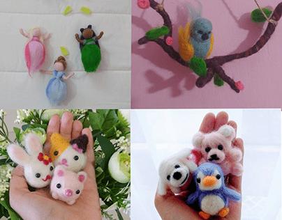 needle felting dolls