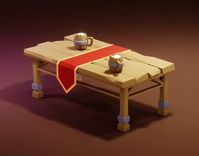 Low Poly Fantasy Room Props in BLENDER 2.90 | 3d Game