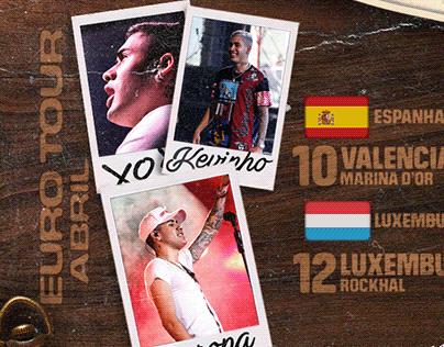 Social Media - Agenda Euro Tour / Kevinho