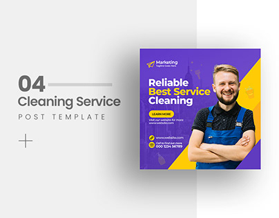Cleaning Service Social Media Post Template