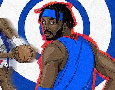 Detroit Pistons Fan Art Friday Illustration