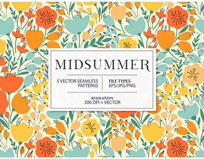 MIDSUMMER seamless pattern