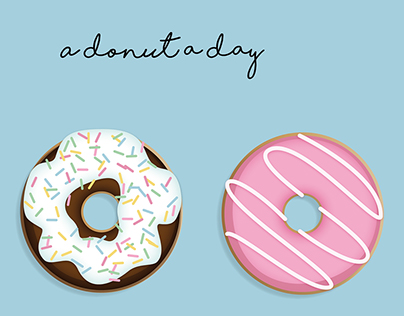 A Donut A Day // Poster Illustration