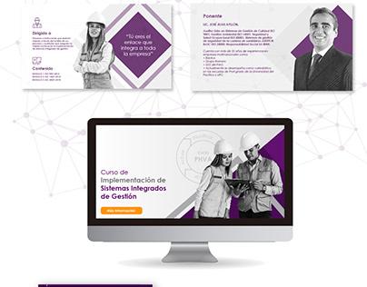 Landing Page Campaña Digital Curso SIG - Ideas Campus
