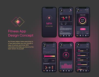 MFH Fitness App Design Concept