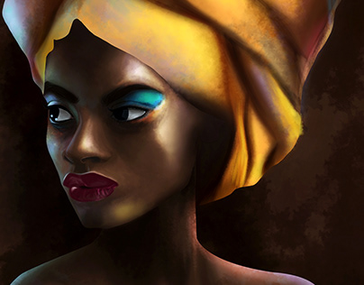 African Woman digital painting