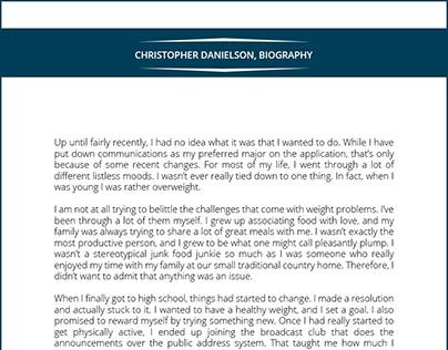 Personal Biography Sample