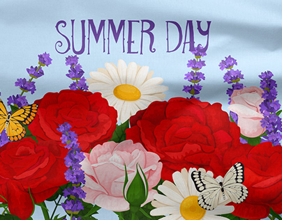 Summer day vector flowers
