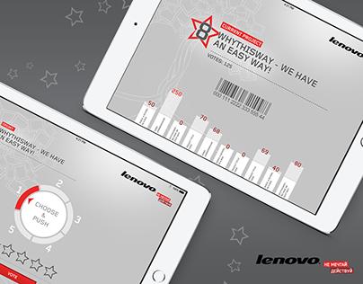 Tablet Vote System Design  for Lenovo
