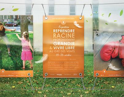 YWCA outdoor exhibition