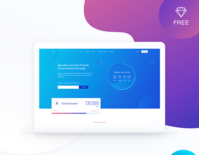 Free ICO Website Template
