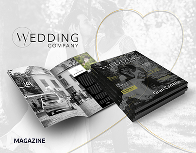 Wedding Company Magazine Design