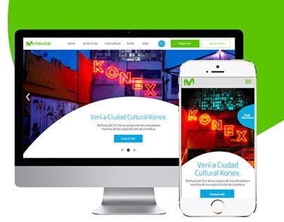 Diseño web UX Concept - Movistar.com