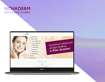 Skin Care Web Design